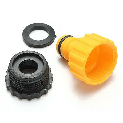 Threaded Plastic Garden Water Hose Pipe Connector Tube Fitting Tap Adapter. 082