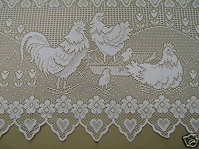 NEW CAFE CREAM LACE CURTAIN LENGTH COUNTRY HOME KITCHEN selling per mt