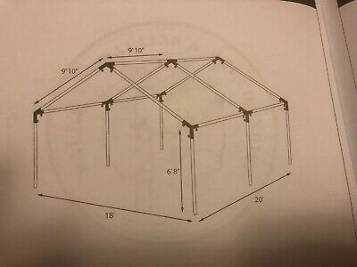20x20 party tent frame only