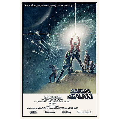 Guardians of the Galaxy Marvel Movie Silk Poster 12x18 24x36 inch STAR WARS