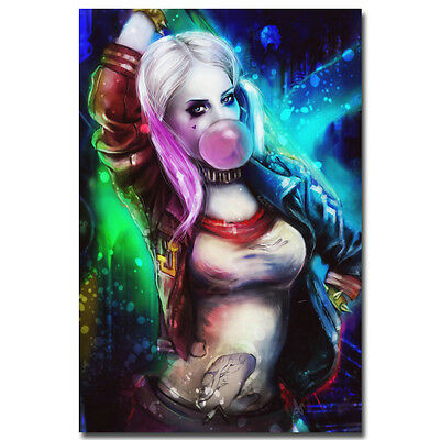 """Suicide Squad DC Superheroes Movie New Silk Poster 12x18 24x36/"""" Harley Quinn 019"""