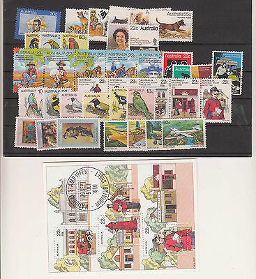 1980 year collection.38 stamps plus 1 x miniature sheet. MNH.Going cheap
