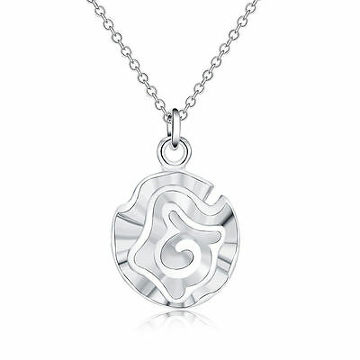 HOT sale new Silver Plated ROSE Fashion charms cute nice women Necklace Jewelry