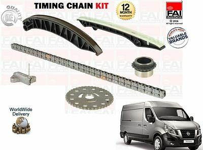 For Nissan Nv400 2.3 Dci Bus Van 2011--> New Timing Chain Kit + Gears