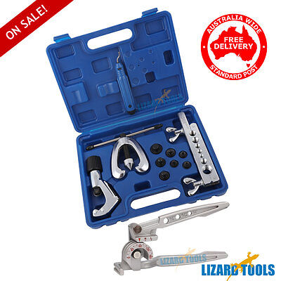 Pro Double Flaring Flare Tool Kit 3 in 1 Tube Bender Deburrer Tools T0218