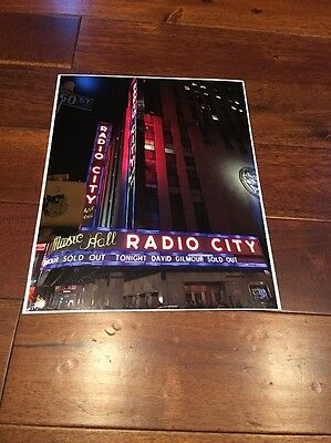 DAVID GILMOUR Pink Floyd 2016 Tour RADIO CITY HALL Limited Edition Photo POSTER