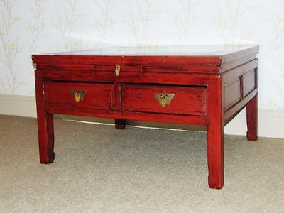 19th Century Chinese Red Lacquer Low Table