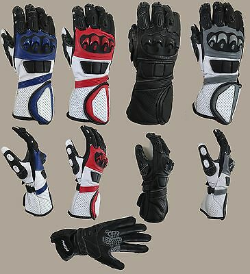 Motorcycle Cowhide Leather Racing Motorbike Gloves Excellent Quality/all weather