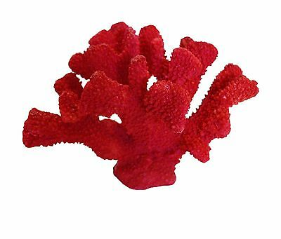 Large Red Sea Coral Reef Nautical Coastal House Decor Poly Resin Accent Figurine