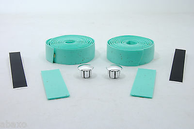 Velo Road Bike Cork Handlebar Tape Bicycle Bar Bianchi Light Green Turquoise