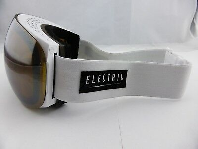 Electric EG3 Snow Goggles Gloss White - Bronze/Silver Chrome + Bonus Lens