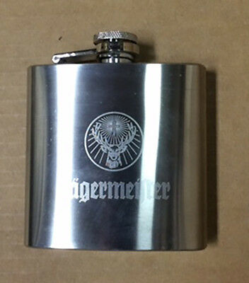 Jagermeister 6 Oz Stainless Steel Flask << New >>