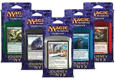 5 x Intro Pack (Complete) Journey into Nyx MTG Card + Each contains 2 boosters!