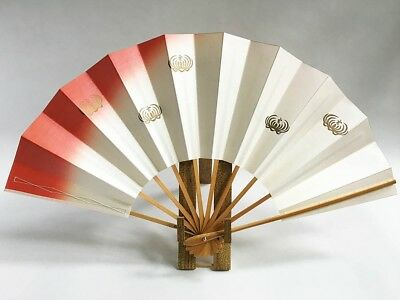 Vintage Japanese Geisha Odori 'Maiogi' Folding Dance Fan from Kyoto: Design XC