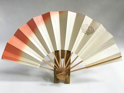 Vintage Japanese Geisha Odori 'Maiogi' Folding Dance Fan from Kyoto: Design XF