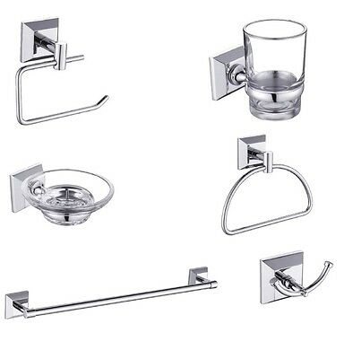 Stainless Steel Loxton Bathroom Fittings Wall Mounted Bath Accessory Set