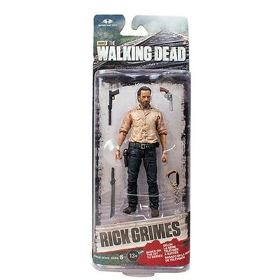 """Hot Walking Dead TV Series 6 Rick Grimes Action Figure 5"""" New In Box"""