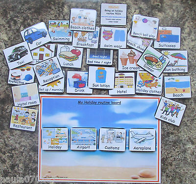 Routine Pec flash cards & A4 Boards OR Visual cards ( all cards 6.5cm x 5.5cm )