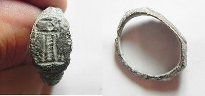 ZURQIEH -aa1332- ROMAN EGYPT. BRONZE RING WITH PHAROES OF ALEXANDRIA. 100 - 200