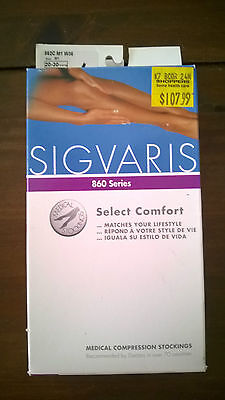 Sigvaris 860 Comfort Series Suntan, size M1, 20-30 mmHg Compression Stockings