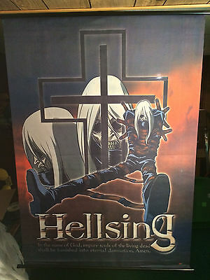 "31"" x 42"" Hellsing Anime Fabric Wall Scroll Alucard"