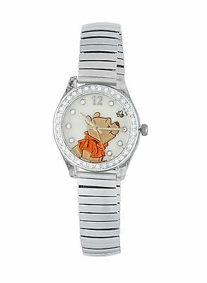 Winnie the Pooh Women's Watch with Silver Band and Rhinestones WP2717