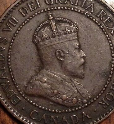 1907H Canada Large Cent Stunning Coin Great Keydate Penny Look !!