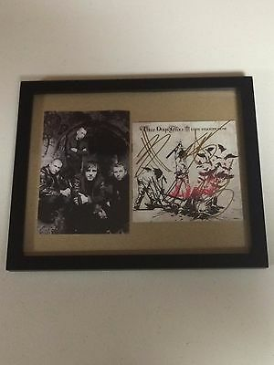 3 Three Days Grace Autographed Signed Framed Cd Cover With Signing Picture Proof