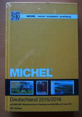 2015/2016 Michel Deutschland Germany Plus Cd Stamp Catalogue Hard Cover