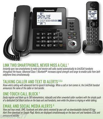 Panasonic KX Cordless Corded Link2Cell Phone Answering System Bluetooth