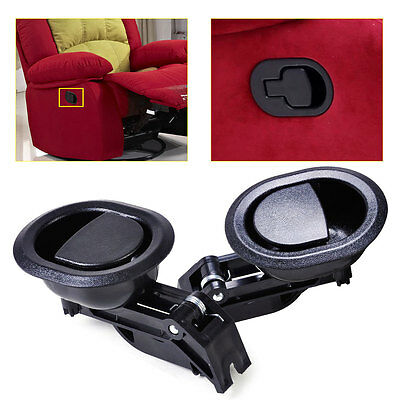 2Pcs Hot Sale Black Oval Recliner Sofa Chair Release Lever Handle replacement