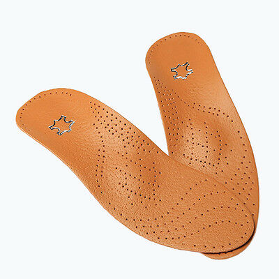 Faux Leather Latex Insole Orthopedic Instep Arch Support Flat Shoe Pad
