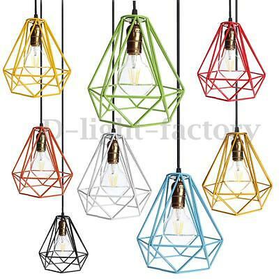 Modern Industrial Style Metal Wire Frame Ceiling Light Lamp Shade Squirrel Cage