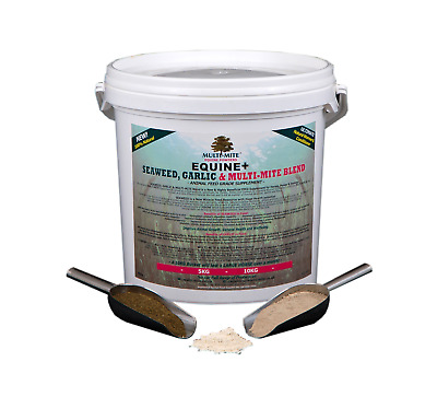 MULTI MITE Diatomaceous Earth DE Seaweed & Garlic 10KG Bucket WORMER-CONDITIONER