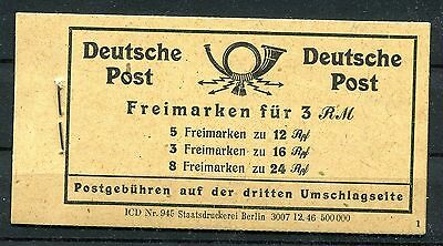 Germany 1946 Allied Occupation Numerals Booklet Michel Mh50 Perfect Mnh