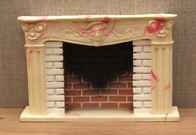 1:12 Dolls House Large marble effect fireplace