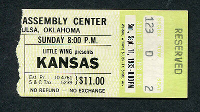 1983 Kansas concert ticket stub Tulsa OK Drastic Measures
