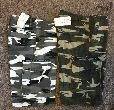 Men / Mens Army Cargo Camo Casual Dress Walk Shorts / Short / Pants Camouflage
