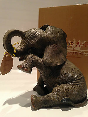 Missing You Tear Baby Elephant Ornament Figurine Figure Gift Present
