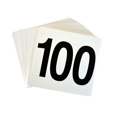 Wedding Event Party Table Number Plastic Place Cards 1-100. Double sided