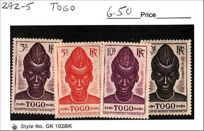 Togo Stamp Lot Scott 292-295 MH Low Combined Shipping