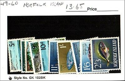 Norfolk Island Stamp Lot Scott 49-60 MH Low Combined Shipping