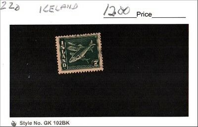 Iceland Stamp Lot Scott 220 Used Low Combined Shipping