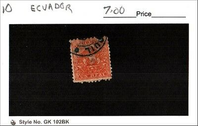 Ecuador Stamp Lot Scott 10 Used Low Combined Shipping