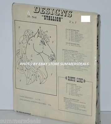 RUG CRAFTERS TUFTING DESIGNS STALLION 2' x 3' SEALED