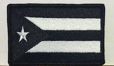 PUERTO RICO  Flag Iron-On Tactical Patch Red /& White Version White Border #53