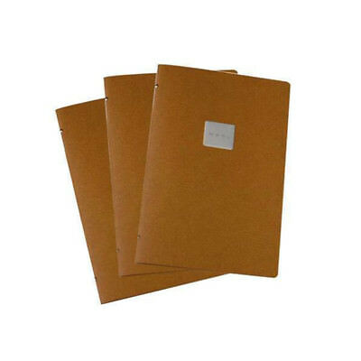 5x Deluxe Tuscan Leather Menu with Menu Badge, Natural A4 2 Pockets, Restaurant