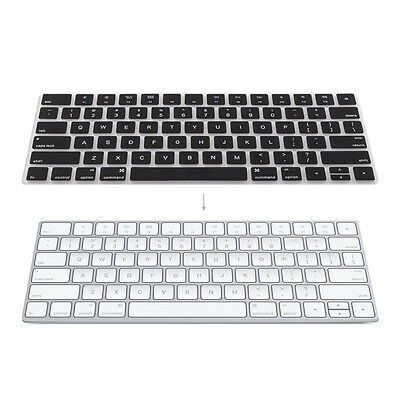 kwmobile TASTATUR SCHUTZ QWERTY (US) FÜR APPLE MAGIC KEYBOARD SCHWARZ HÜLLE