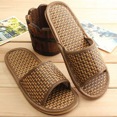 Summer Men Women Casual Shoes Indoor Bathroom Slippers Bamboo Shoes Slipper New