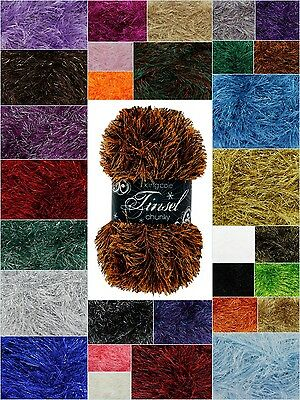 King Cole - Tinsel Chunky - 50g Knitting Wool - Free P&P Any Quantity